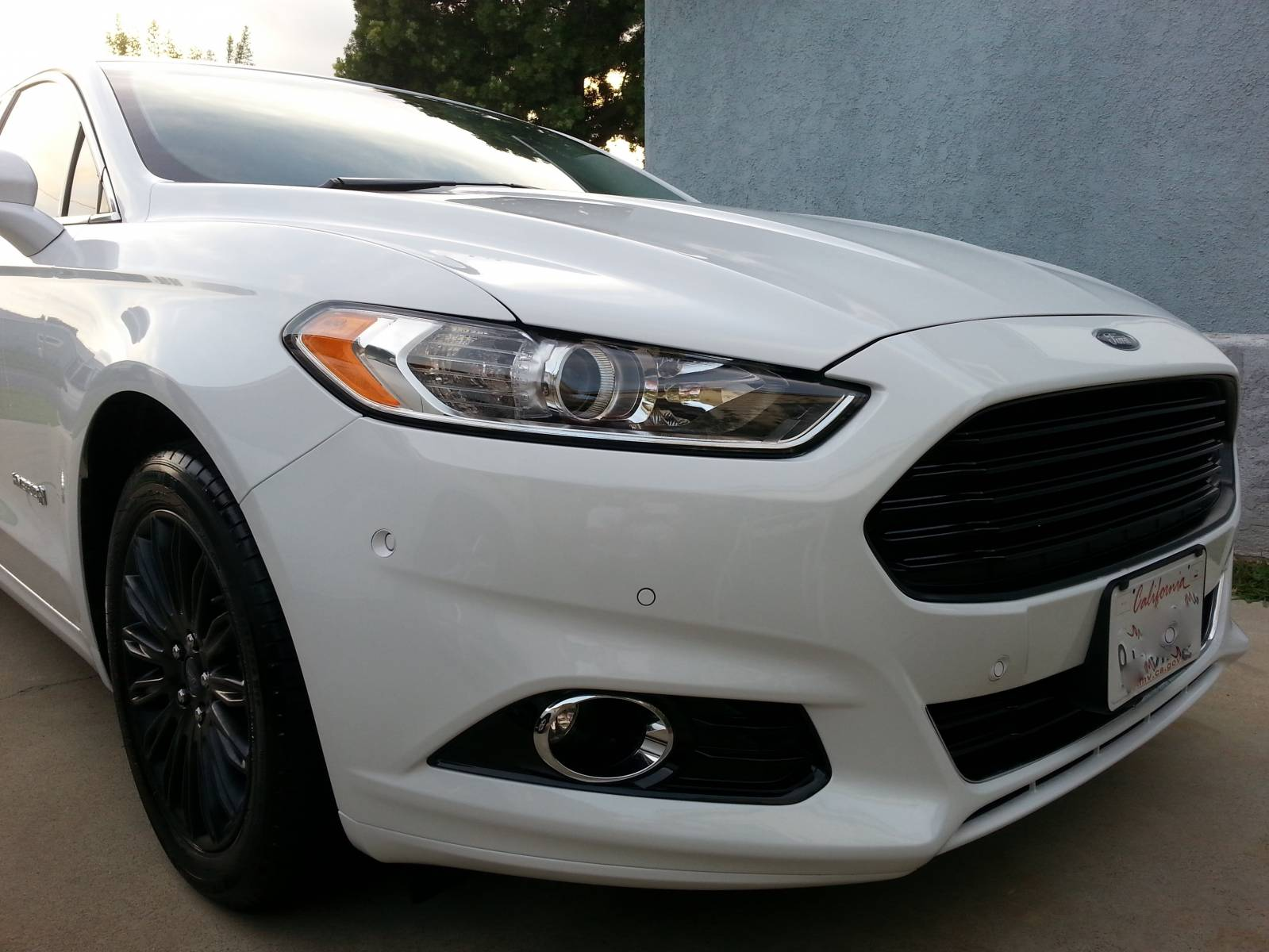 Blacked Out Grill And Wheels 2013 White Ffh Blacked Out Grill And